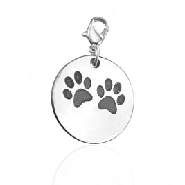 Personalised Paw Prints Charm