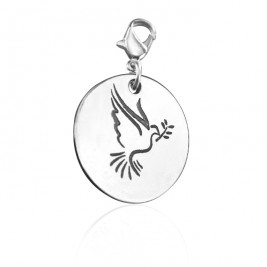 Personalised Peaceful Dove Charm