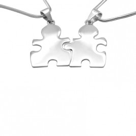 Personalised Puzzle Necklace - Sterling Silver