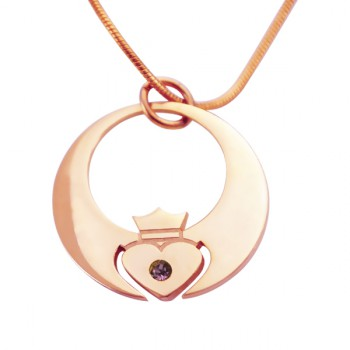 Personalised Queen of My Heart Necklace - 18ct Rose Gold Plated