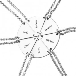 Personalised Meet at the Heart Hexa - Six Personalised Necklaces