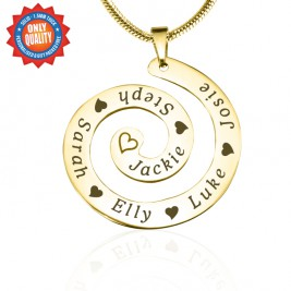 Personalised Swirls of Time Necklace - 18ct Gold Plated