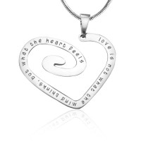 Personalised Love Heart Necklace - Sterling Silver *Limited Edition