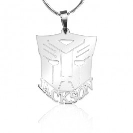 Personalised Transformer Name Necklace - Sterling Silver