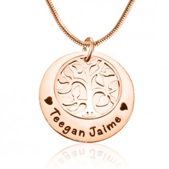 Personalised My Family Tree Single Disc - 18ct Rose Gold Plated
