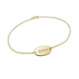 18ct Gold-Plated Silver Personalised Baby Bracelet/Anklet
