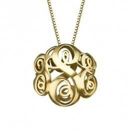 New Stylish Double Monogram Caged Necklace