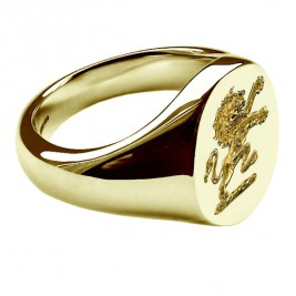 Signet Rings With Family Crest 18ct Gold Plated Sterling Silver