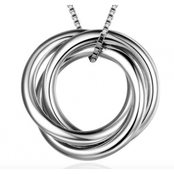 30th Birthday 'Three Rings For Three Decades' Russian Ring Necklace - 30th Birthday Gift For Her