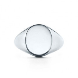 Personalise Luxury Chunky Sterling Silver Signet Ring With Engraved Initials