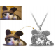 Personalized Pet Photo 925 Sterling Silver Necklace (Engraved Back)