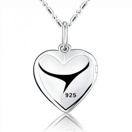 Personalised Engravable Photo Locket Pendant Necklace Sterling Silver