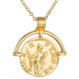 Neatie Personalised LUCY WILLIAMS ROMAN ARC COIN NECKLACE