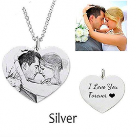 Heart Photo Necklace Sterling Silver
