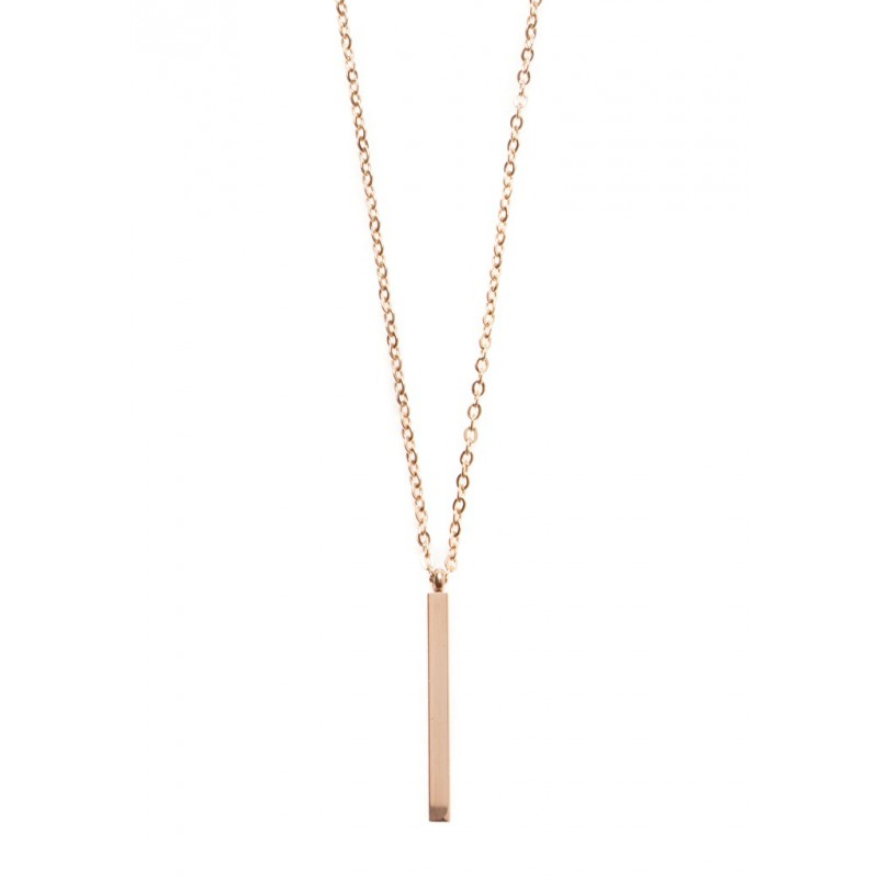 Vertical Bar Necklace Personalized Long Bar Necklace 4