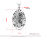 Personalised Mens St Christopher Silver Necklace