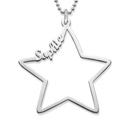 Cute Star Name Necklace Personalised New Design