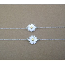 Sterling Silver Dainty Sunflower Bracelet Unique Sunflower Jewellery
