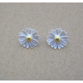 Sterling Silver Dainty Sunflower Earring Unique Sunflower Jewellery