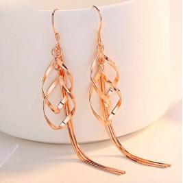 Tassel Earrings With Geo Pendants Long Drop Earrings Sterling Silver