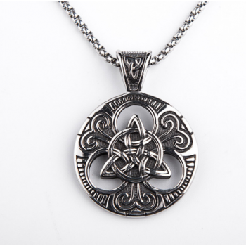 Viking Symbol Titanium Ireland Celtic Knot Necklace Gift For Men