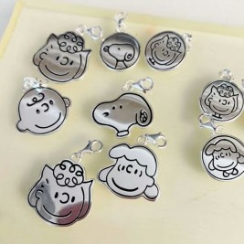 Sterling Silver Custom Cartoon Character Engraved Pendant Necklace