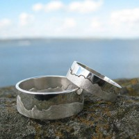 Personalised Solid Sterling Silver Mens Coastline Map Ring
