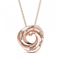 60th Birthday 'Six Rings For Six Decades' Russian Ring Necklace - 60th Birthday Gift For Her