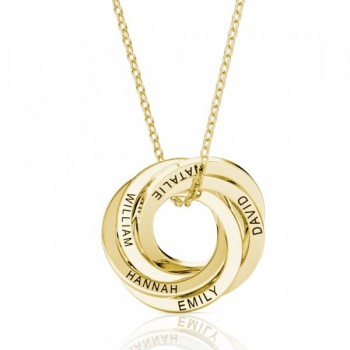 50th Birthday 'Five Rings For Five Decades' Russian Ring Necklace - 50th Birthday Gift For Her
