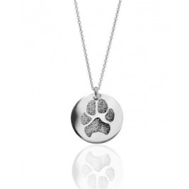 Personalized Pet Memorial Necklace Actual Pet Paw Personalized Pendant Necklace 925 Sterling Silver