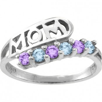 Cherish  MOM Cut-out 2-6 Stones Ring