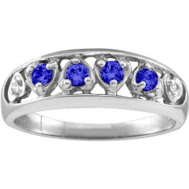 Lyric  Embedded Hearts Ring with 2-6 stones