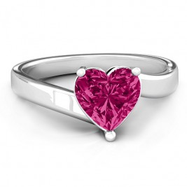 Passion  Large Heart Solitaire Ring