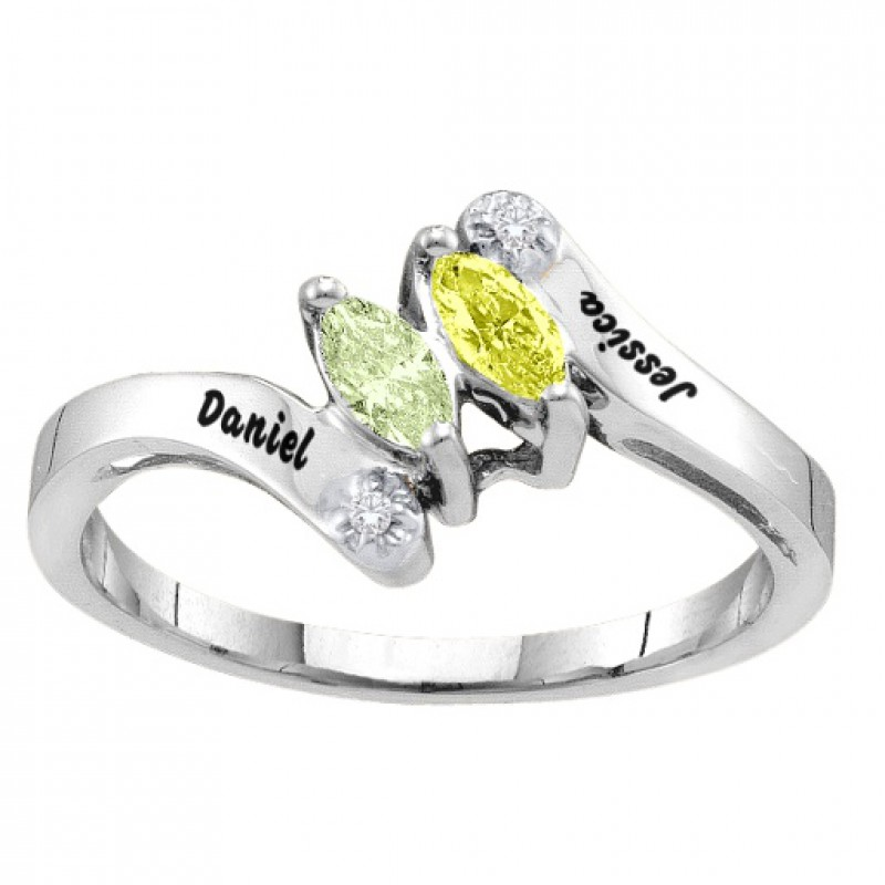 ring engagement cut gabriel princess white rings naomi bypass gold