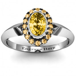Royal  Bezel Set Oval Cluster Ring