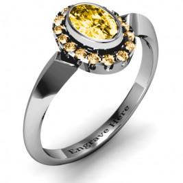 Royal  Bezel Set Oval Cluster Ring