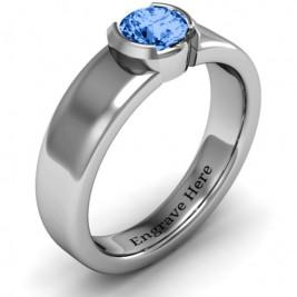 Spectacular Sophie  Bezel Set Round Stone Ring