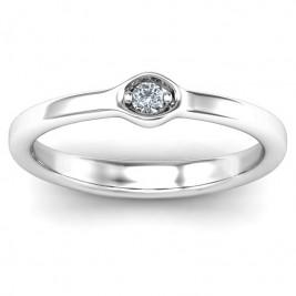 1-4 Infinite Wave Multi Stone Ring