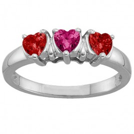 2-5 Hearts Ring