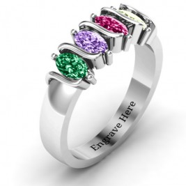 2-5 Oval Stones Ring