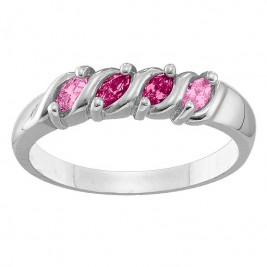 2-6 Marquise S-Curve Ring