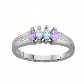 3-6 Marquise Ring With Channel Set Accents