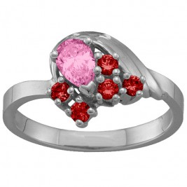 3-9 Stones Swan Ring