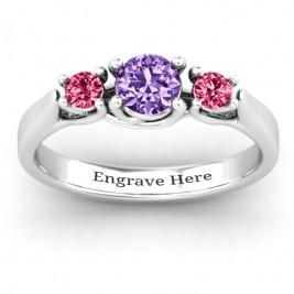 3-Stone Graduated Ring