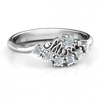 4 - 9 Stone Mom's Glimmering Love Ring