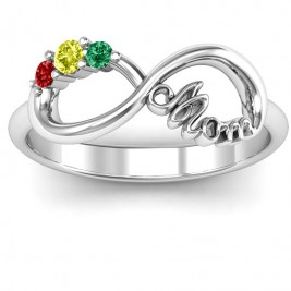 Mom's Infinite Love Ring with 2-10 Stones and 3 Cubic Zirconias Stones