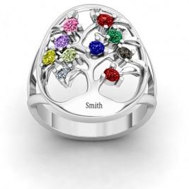 Oval Family Tree Ring