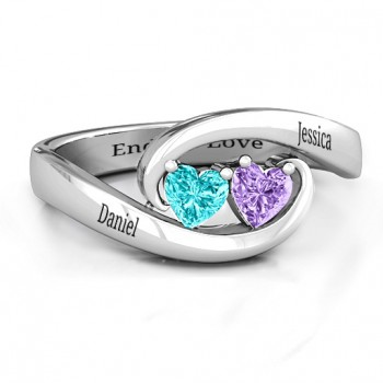 Pair of Hearts Ring