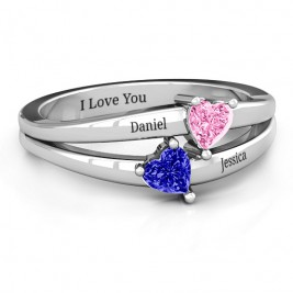 Twin Hearts Ring