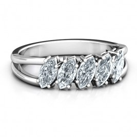 Angled Marquise Ring